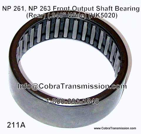 NP 261, NP 263, Front Output Shaft Bearing