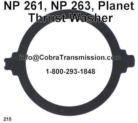 NP 261, NP 263, Planet Thrust Washer