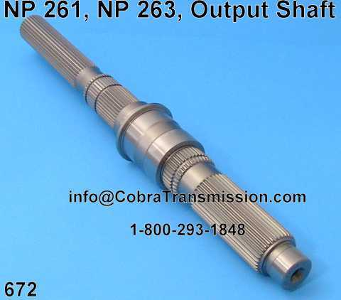 NP 261, NP 263, Main Shaft