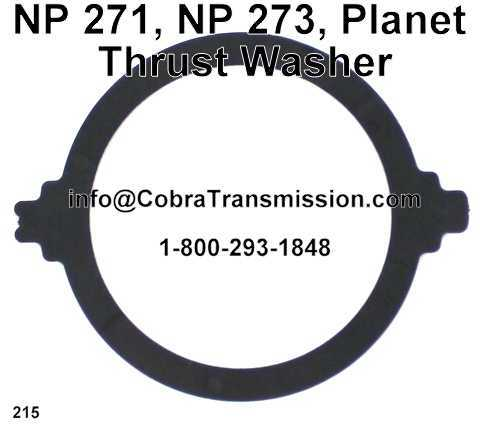 NP 271, NP 273, Planet Thrust Washer