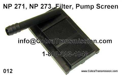 NP 271, NP 273, Filter, Pump Screen