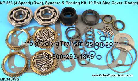 NP 833 Synchro, Bearing, Gasket and Seal Kit