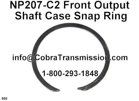 NP207-C2 Front Output Shaft Case Snap Ring