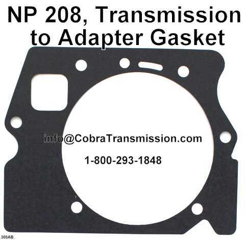 NP 208, Transmission to Adapter Gasket