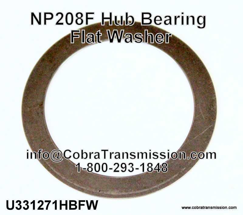 NP 208F Hub Bearing Flat Washer
