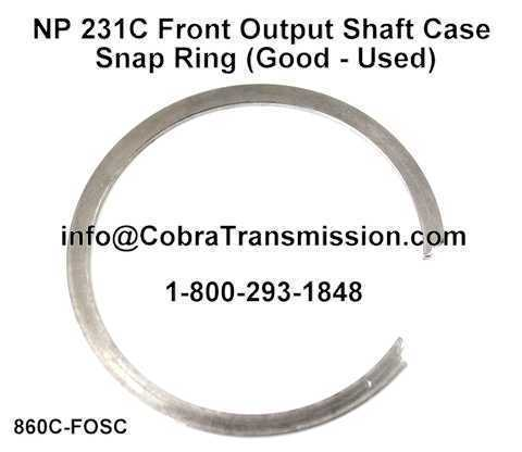 NP 231C Front Output Shaft Case Snap Ring (Good - Used)