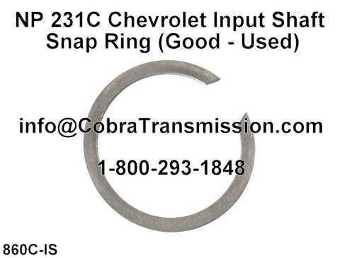 NP 231C Chevrolet Input Shaft Snap Ring (Good - Used)