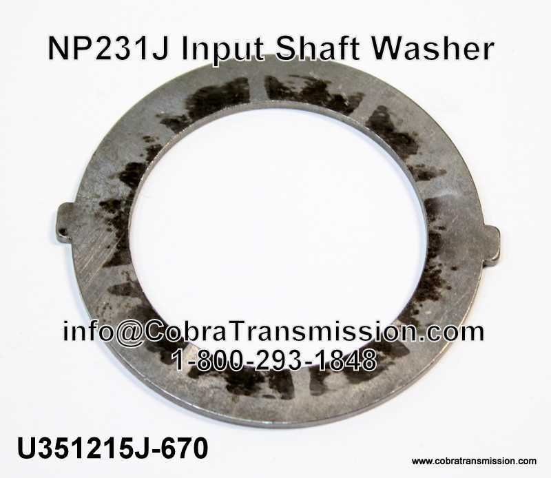 NP231J Input Shaft Washer