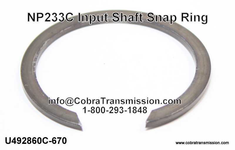 NP233C Input Shaft Snap Ring