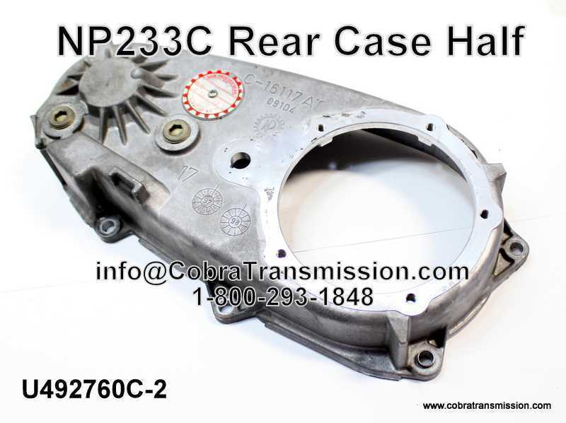 NP233C, NP231DHD Rear Case Half