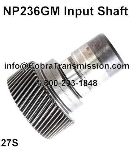 NP236GM Input Shaft
