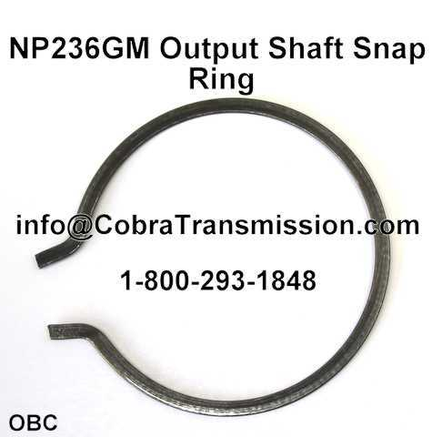 NP236GM Output Shaft Snap Ring