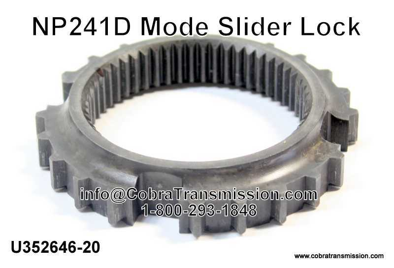 NP241D Mode Slider Lock