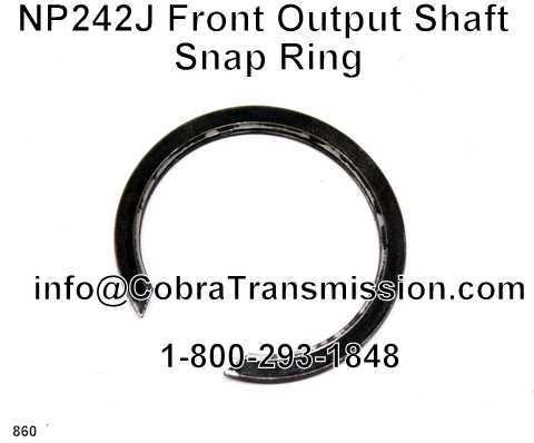 NP242J Front Output Shaft Snap Ring