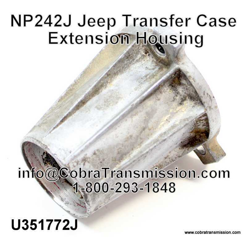 NP242J Jeep Transfer Case Extension Housing