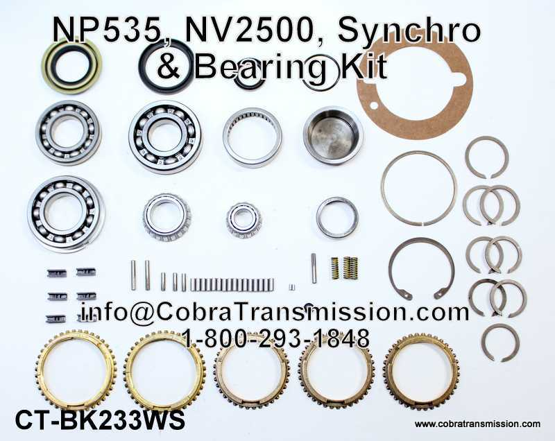 NP535, NV2500, Synchro, Bearing, Gasket and Seal Kit