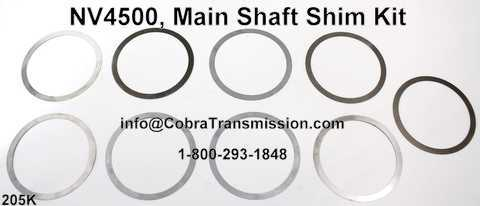 NV4500, Main Shaft Shim Kit