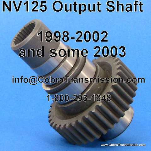 BMW X5 - NV125 Output Shaft (Driven Sprocket)