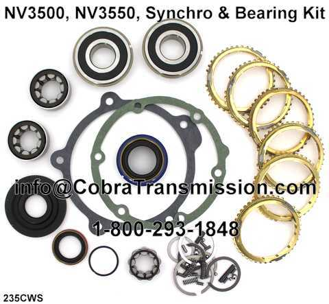 NV3500, NV3550, Synchro, Bearing, Gasket and Seal Kit