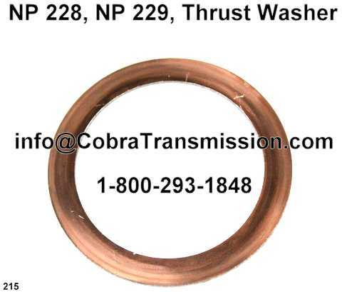"NP 228, NP 229, Thrust Washer (.071"" Thick, 3.44"" OD)"