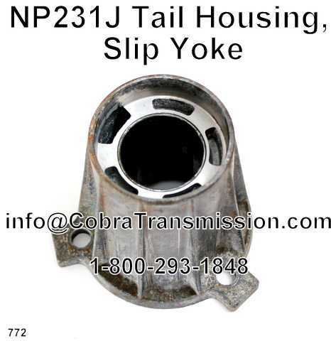 NP231J Tail Housing, Slip Yoke