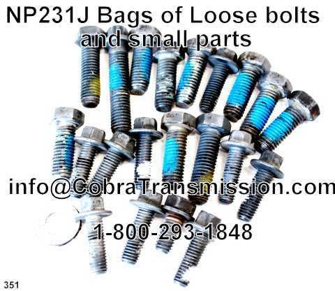 NP231J Bags of Loose bolts and small parts