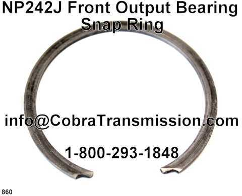 NP242J, NP247J Front Output Bearing Snap Ring