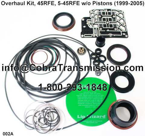 Overhaul Kit, 45RFE, 5-45RFE w/o Pistons (1999-2005)