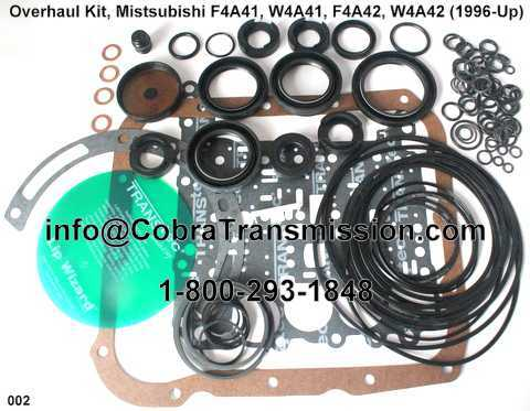 Overhaul Kit, Mistsubishi F4A41, W4A41, F4A42, W4A42 (1996-Up)