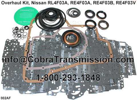 Overhaul Kit, Nissan RL4F03A, RE4F03A, RE4F03B, RE4F03V