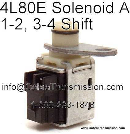Parts 4L80E Shift Solenoid A solenoid, sensor , cobra transmission 4L80E Transmission Wiring Diagram at gsmportal.co
