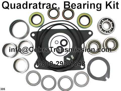 Quadratrac, Bearing Kit