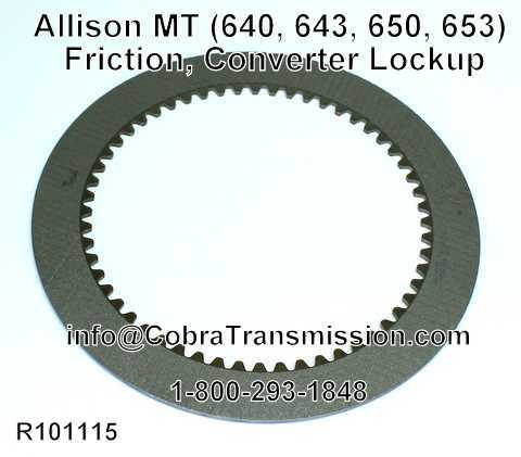 Allison MT (640, 643, 650, 653) Friction, Converter Lockup