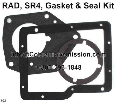 RAD, SR4, Gasket & Seal Kit