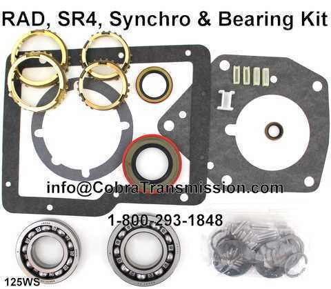 RAD, SR4, Synchro, Bearing, Gasket and Seal Kit