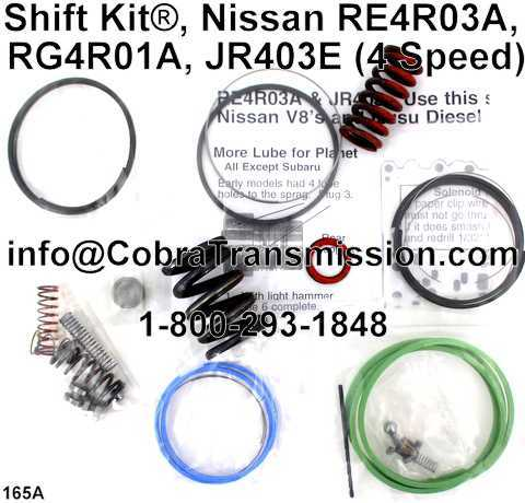Shift Kit®, Nissan RE4R03A, RG4R01A, JR403E (4 Speed)