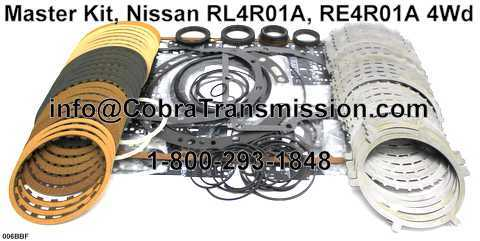 Master Kit, Nissan RL4R01A, RE4R01A 4Wd