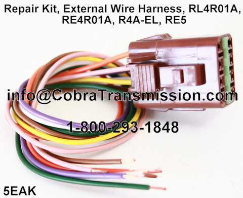 RL4R01A Repair Kit repair kit, external wire harness, rl4r01a, re4r01a, r4a el, re5 Toyota Wire Harness Repair Kit at eliteediting.co