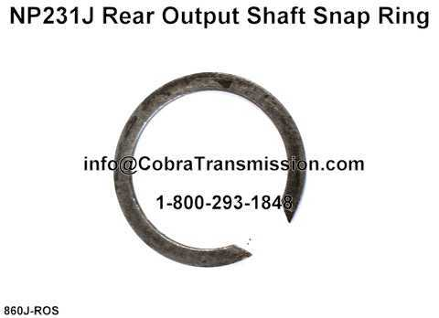 NP231J Rear Output Shaft Snap Ring