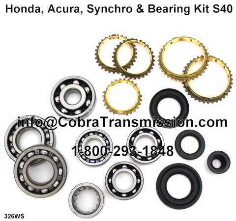 Honda, Acura, Synchro, Bearing, Gasket and Seal Kit S40