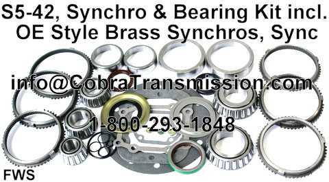S5-42, Synchro, Bearing, Gasket and Seal Kit