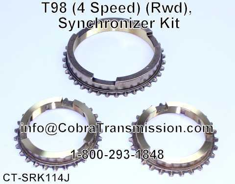 T98 (4 Speed) (Rwd), Synchronizer Kit