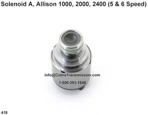 Solenoid A, Allison 1000, 2000, 2400 (5 & 6 Speed)