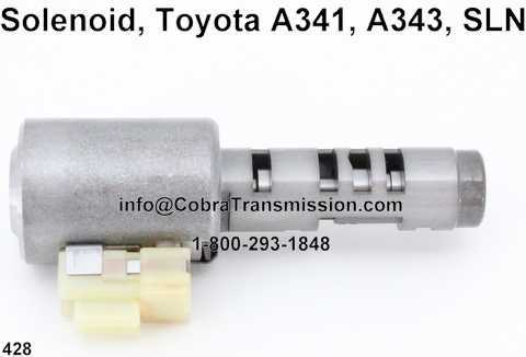 Solenoide, Toyota A341, A343, SLN