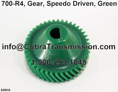 700-R4, Gear, Speedo Driven, Green