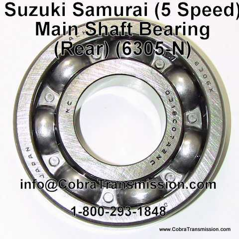 Suzuki Samurai (5 Speed), Main Shaft Bearing