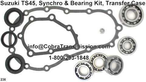 Suzuki TS45, Synchro, Bearing, Gasket and Seal Kit Transfer Case