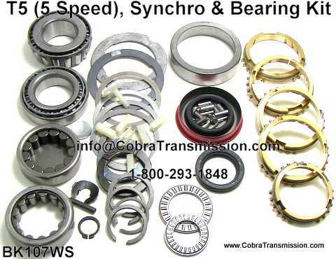 T5 Synchro, Bearing, Gasket and Seal Kit