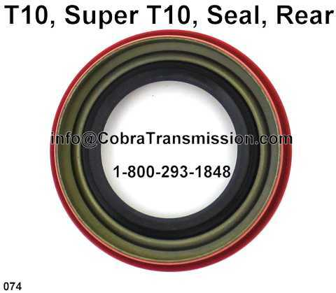 T10, Super T10, Seal, Rear