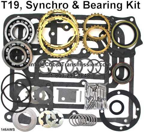 T19, Synchro, Bearing, Gasket and Seal Kit